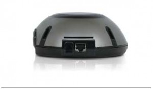 DeskPoint Rear - Low-profile with Internet-IN, Power-IN and a slot for a DeskCard